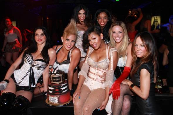 Meagan Good with Pussycat Dolls at Gallery