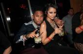 R&B artist Miguel and his girlfriend Nazanin Mandi at Lavo.