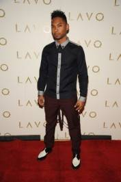 Miguel on the red carpet at Lavo.