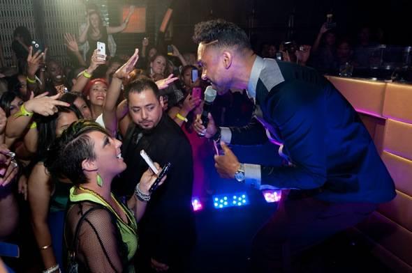 R&B artist, Miguel, at LAVO Las Vegas