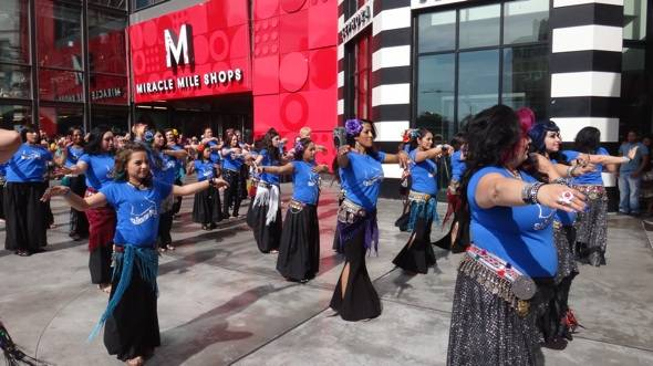 Haute Event: Fuego Fusion Holds a Shimmy Mob at the Miracle Mile Shops