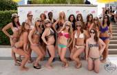 Miss Pleasure Pool bikini contest contestants.