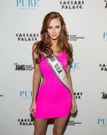 Miss USA Alyssa Campanella on the red carpet at Pure Nightclub.