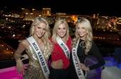 Miss Kansas USA 2012 Gentry Linn Miller, Miss Iowa USA 2012  Rebecca Hodge and Miss Kentucky USA 2012 Amanda Ashlee Mertz pose at VooDoo Rooftop Lounge.