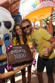Actress Nikki Reed celebrates her birthday with husband singer/songwriter Paul McDonald at Marquee.