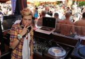 Samantha Ronson spins at Tao Beach.
