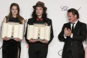 Shailene Woodley, Ezra Miller and Sean Penn