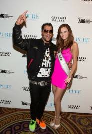 Sky Blu and Miss USA Alyssa Campanella at Pure Nightclub.
