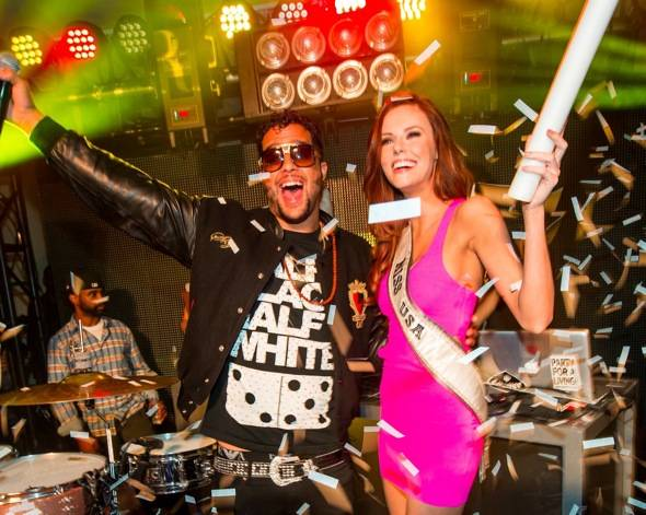 Sky Blu_Miss USA Alyssa Campanella_Stage_PURE Nightclub