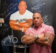 Steve Martorano in front of the celebrity wall.