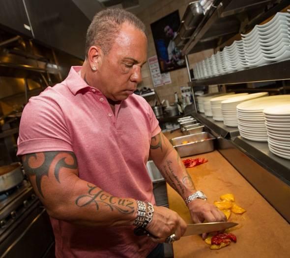 Steve Martorano preparing a dish