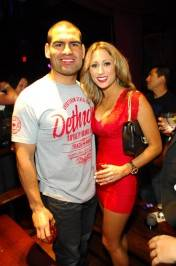 Cain Velasquez and Michelle Velasquez at Tabú.