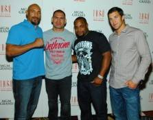 Lavar, Cain Velasquez, Daniel Cormier and Luke Rockhold on the red carpet at Tabú.