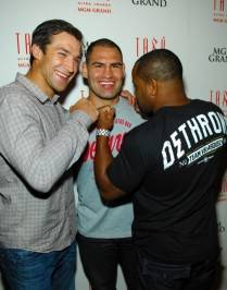 uke Rockhold, Cain Velasquez and Daniel Cormier on the red carpet at Tabú.