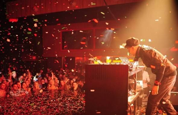Taboo of Black Eyed Peas on the turntables at Rain Nightclub in Palms Casino Resort