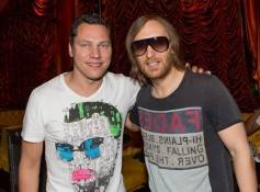 Tiesto and David Guetta at Encore Beach Club.