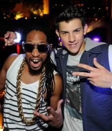 Lil' Jon and Nick Hissom attend Hissom's debut performance at the Tryst.