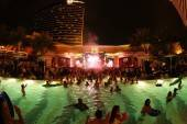 The scene at Night Swim at XS Nightclub.