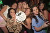 Singer Anahi with her friends at XS Nightclub.