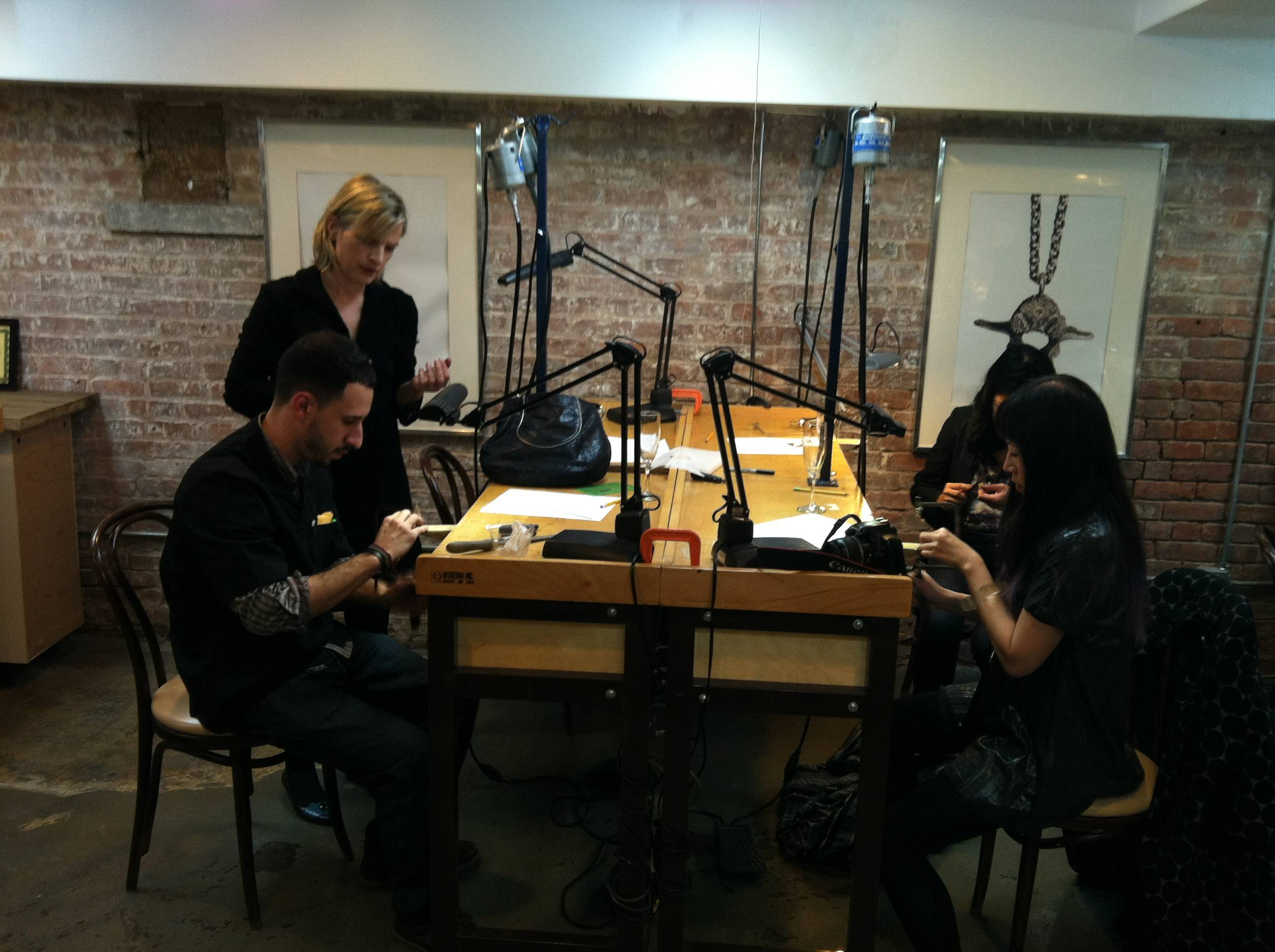 Kristin Hanson Diamond Atelier Hosts Fine Jewelry School Workshop