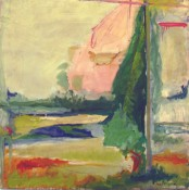 Jane Freilicher, Pink House, 1958