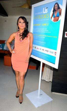 Dancer Cheryl Burke attends the US Weekly Hot Bodies issue party at the Liquid Pool Lounge.