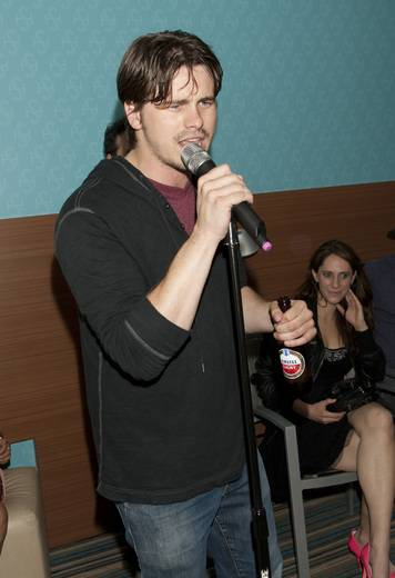 Jason Ritter performs at Montblanc Presents The 24 Hour Plays