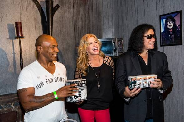 Mike Tyson  , Shannon Tweed and Gene Simmons