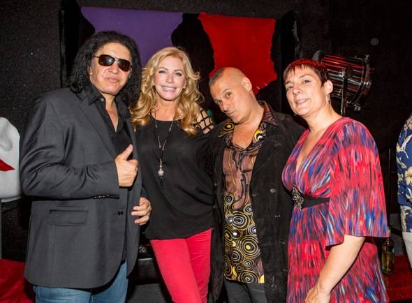 Gene Simmons, Shannon Tweed, Patrick Vitagliano and Christina Vi