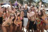Afrojack mingles with fans at Encore Beach Club.