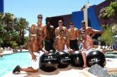 Chippendales soak in the sun at The Voo pool.