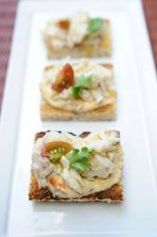 Crab Yogurt Tarragon Tomato Crostini