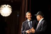 President Barack Obama and SF Giants Hall of Famer Willie Mays