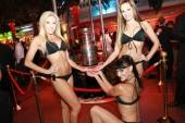 The Stanley Cup at Surrender Nightclub.