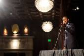 President Barack Obama speaks to supporters at the Julia Morgan Ballroom