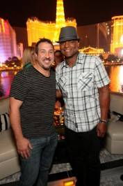 Joey Fatone and Warren Moon at Hyde Bellagio.