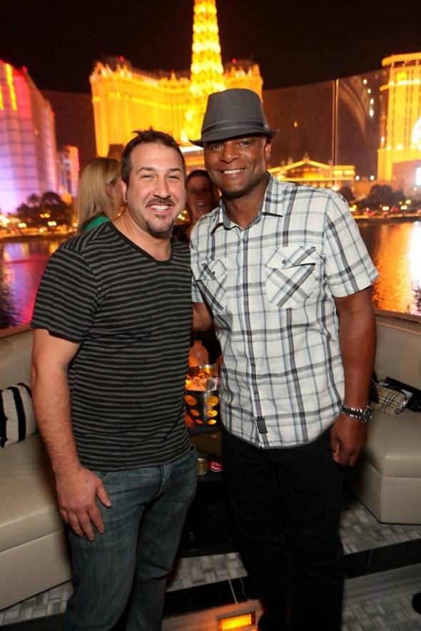 Joey Fatone and Warren Moon at Hyde Bellagio, Las Vegas, 6.16.12 (2)