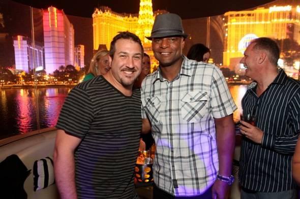 Joey Fatone and Warren Moon at Hyde Bellagio, Las Vegas, 6.16.12