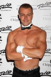 Joey Lawrence on the red carpet for Chippendales.