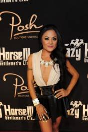 Kaylani Lei takes to the red carpet at Crazy Horse III and Posh Boutique Nightclub.