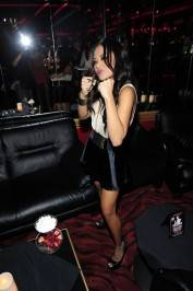 Kaylani Lei shows off boxing pride on fight night at Crazy Horse III.