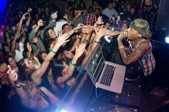 Hip hop artist, Kid Ink, at LAVO