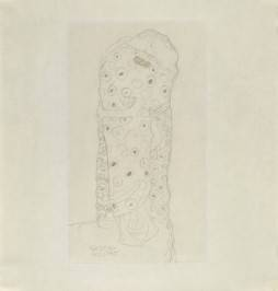 Gustav Klimt, Standing Couple Embracing, Seen from the Side, 1907 - 1908. Image courtesy of the Albertina, Vienna.