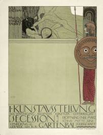 Gustav Klimt, Poster of the First Secession Exhibition (uncensored version), 1898. Image courtesy of the Albertina, Vienna.