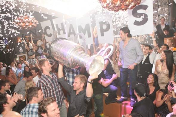 LA Kings and Stanley Cup at Hyde Bellagio, Las Vegas, 6.15.12