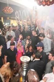 LA Kings at booth, Hyde Bellagio, Las Vegas, 6.15.12