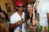 Nicole Scherzinger, formally of The Pussycat Dolls and currently X-factor UK judge, with Chris Paul of the LA Clippers at Tao Beach.