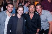 Paul Bissonnette, Claude Giroux, Henrik Lundqvist and Shane O'Brien at Lavo.