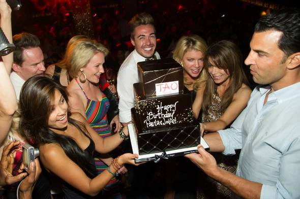 Paula Abdul celebrates her birthday at Scott Conant's Scarpetta at the Cosmopolitan of Las Vegas.