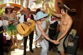 Ricardo Laguna with a mariachi band at Tao Beach.